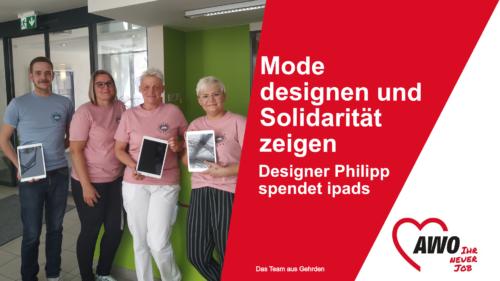 Mode designen und Solidarität zeigen