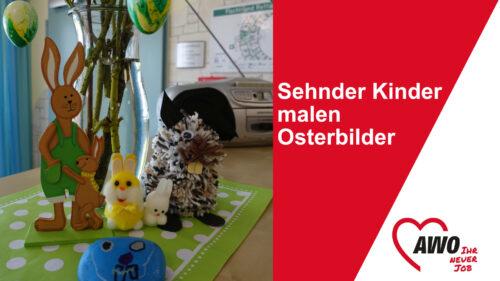 Sehnder Kinder malen Osterbilder